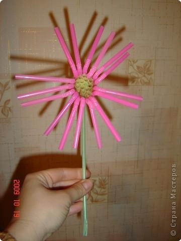 Цветок из трубочек