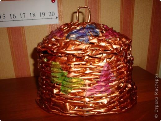 Плетение: Корзина из газет