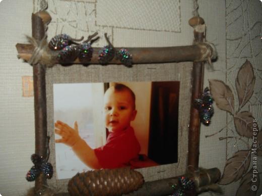 одна из секций тройной фоторамки(с фотографией любимого внука Дениски) фото 1