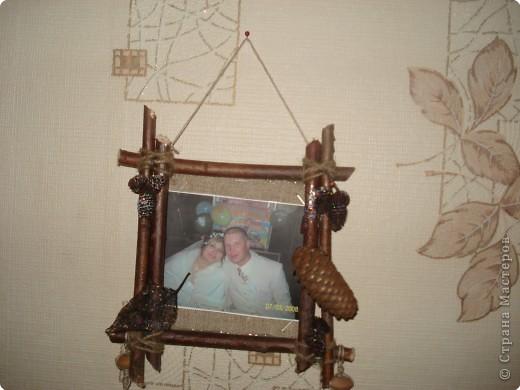 одна из секций тройной фоторамки(с фотографией любимого внука Дениски) фото 3