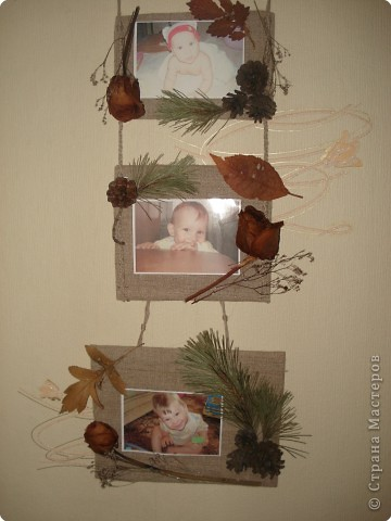 одна из секций тройной фоторамки(с фотографией любимого внука Дениски) фото 10