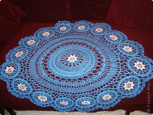 Салфетка на круглый столик фото 1