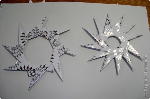 Оригами: Снежинки фото 21