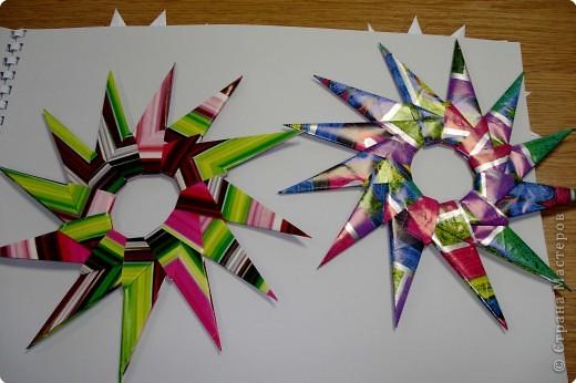 Оригами: Снежинки фото 22