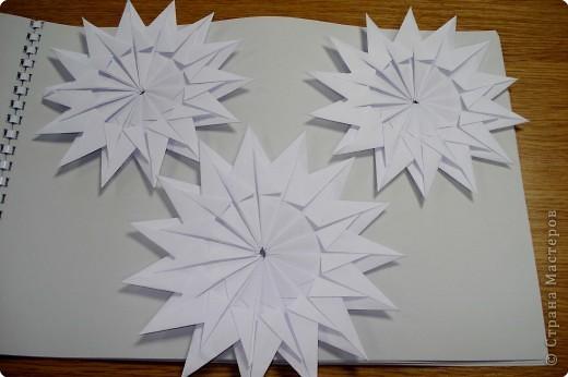 Оригами: Снежинки фото 13
