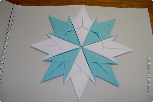 Оригами: Снежинки фото 14
