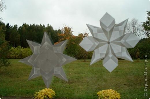 Оригами: Снежинки фото 11