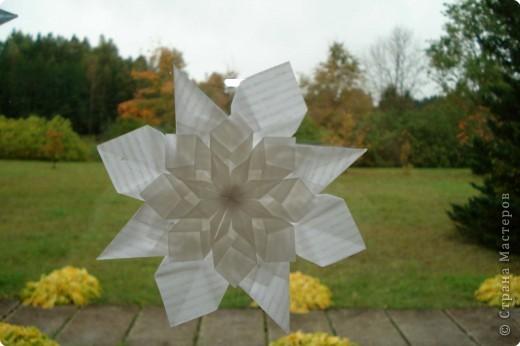 Оригами: Снежинки фото 12