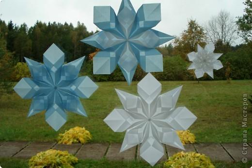 Оригами: Снежинки фото 10