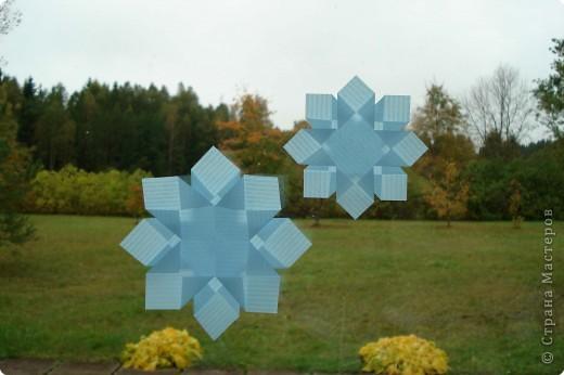 Оригами: Снежинки фото 19