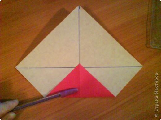 Квадрат для нижней части шкатулки  такого же размера, что и  для крышки. Намечаются две диагонали фото 2
