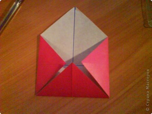 Квадрат для нижней части шкатулки  такого же размера, что и  для крышки. Намечаются две диагонали фото 3