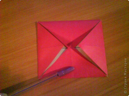 Квадрат для нижней части шкатулки  такого же размера, что и  для крышки. Намечаются две диагонали фото 4