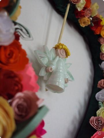 Квиллинг: Ангел во плоти. Розочное сердце для Кати. фото 1