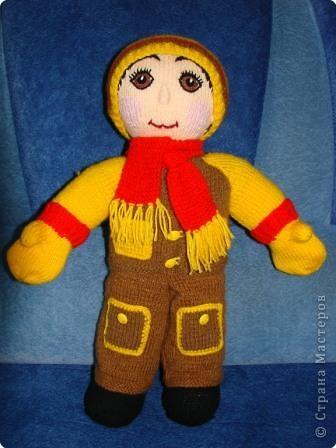 Вязание крючком: Кукла мальчик. фото 1