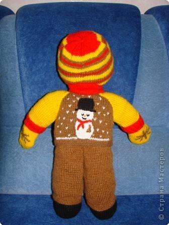 Вязание крючком: Кукла мальчик. фото 2