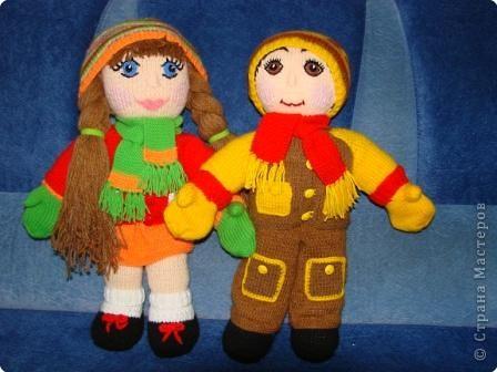 Вязание крючком: Кукла мальчик. фото 3