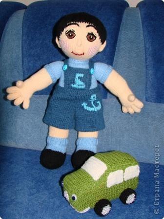 Вязание крючком: Кукла мальчик. фото 4