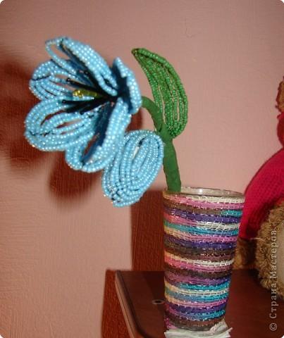 Бисероплетение: Голубенький цветочек