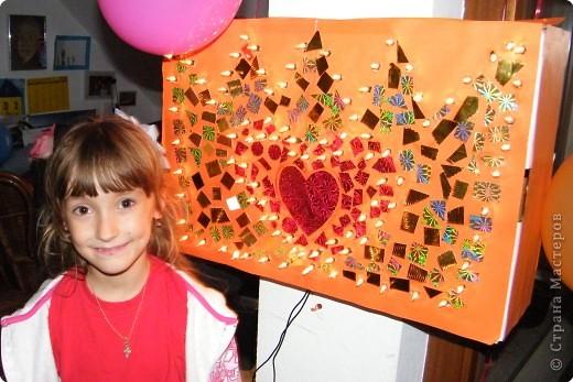 Корона к дню рождения моей принцессы. светящаяся из гирлянд. фото 1