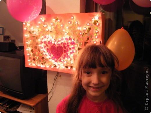 Корона к дню рождения моей принцессы. светящаяся из гирлянд. фото 2