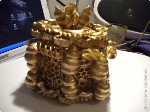 Шкатулка из макарон фото 12