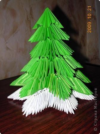 Оригами модульное: Ещё одна ёлочка