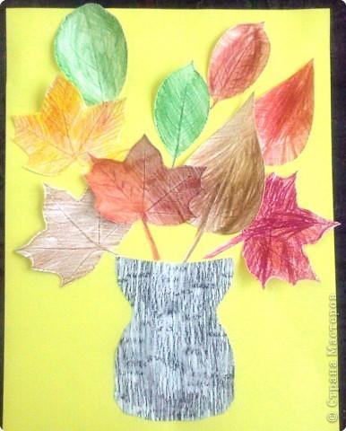 Не думала, что для шестилеток эта работа будет сложновата, пришлось помогать дорабатывать края листьев.  фото 1