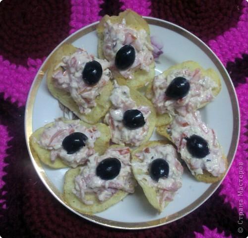 Рецепт кулинарный: Сырная закуска на чипсах