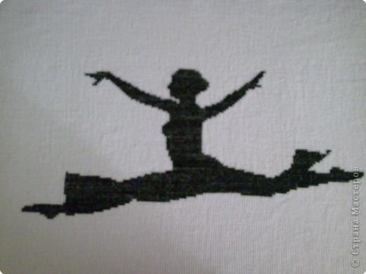 Балерина в прыжке.