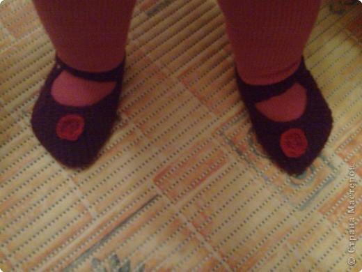 Эти туфильки -пинетки я вчера связала для своей дочурки. фото 1