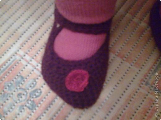 Эти туфильки -пинетки я вчера связала для своей дочурки. фото 2