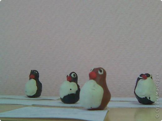 """Лепка: """"Пингвинята на льдине"""" работа детей группы №5 д/сада № 294 вос-ль Абдрашитова Н.К."""