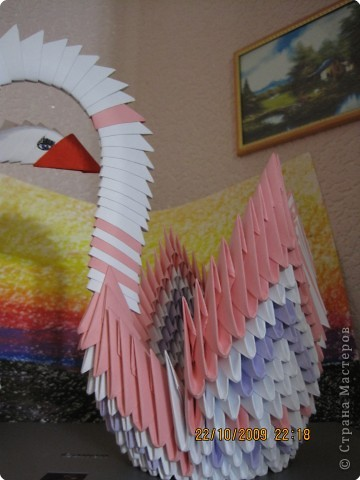 Оригами модульное: МОй маленький павлинчик фото 1