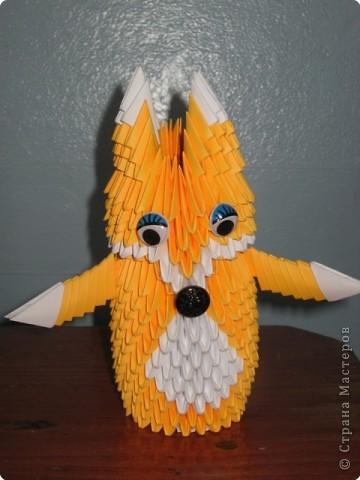 Оригами модульное: Лисичка-сестричка