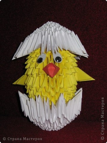 Оригами модульное: Птички. фото 3