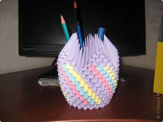 Оригами модульное: Подставка для ручек и карандашей