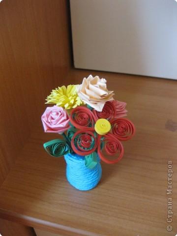 Квиллинг: цветы ко Дню Учителя фото 2