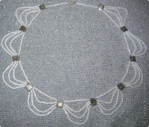 Бисероплетение: ожерелье фото 1