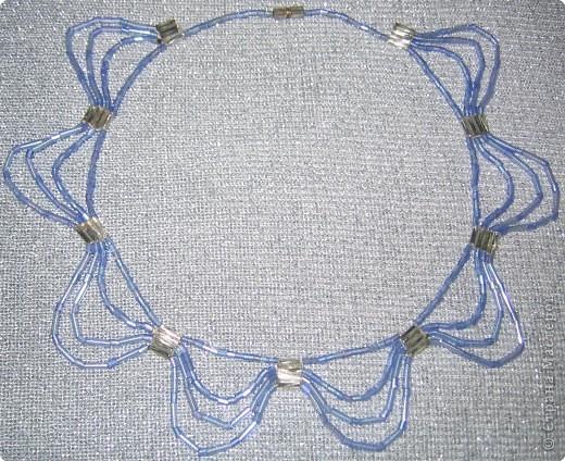 Бисероплетение: ожерелье фото 2