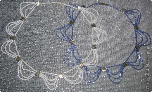Бисероплетение: ожерелье фото 3