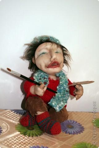 Художник- кукла из чулка