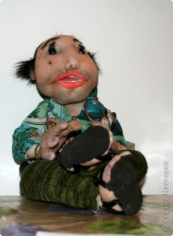 турист- кукла из чулка
