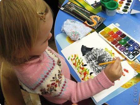 Мы рисуем комочком бумаги! фото 6