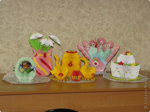 Эта композиция получила 1 место в номинации оригами. Средняя возрастная группа. фото 1
