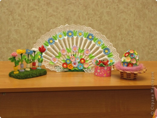 Эта композиция получила 1 место в номинации оригами. Средняя возрастная группа. фото 2