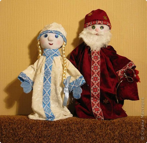 Игрушка мягкая: Дед Мороз и Снегурочка