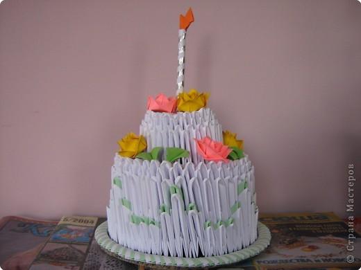 Оригами модульное: торт