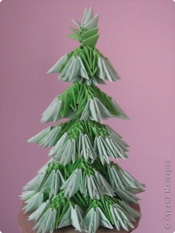 Оригами модульное: Елка