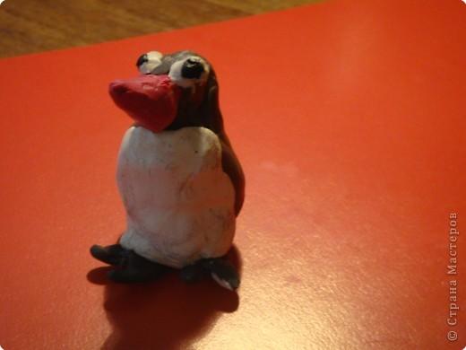 Пингвинчик из пластилина